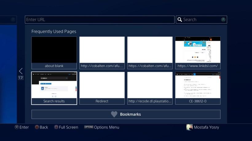 كيفية حذف المواقع التي زرتها مُؤخراً على PlayStation 4