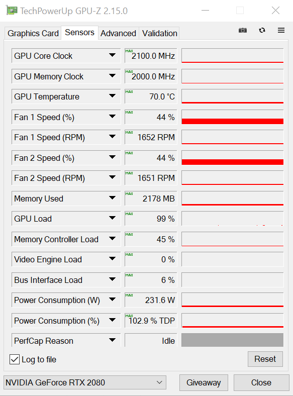 Nvidia Geforce RTX 2080 OC