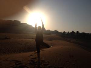 Sunrise yoga!