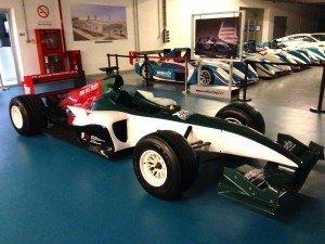 Replica Formula One car at Yas Marina Circuit