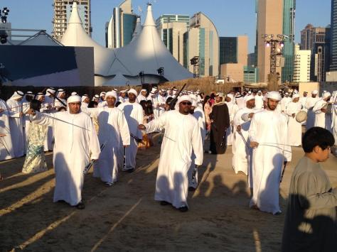 Traditional Emirati celebration dance