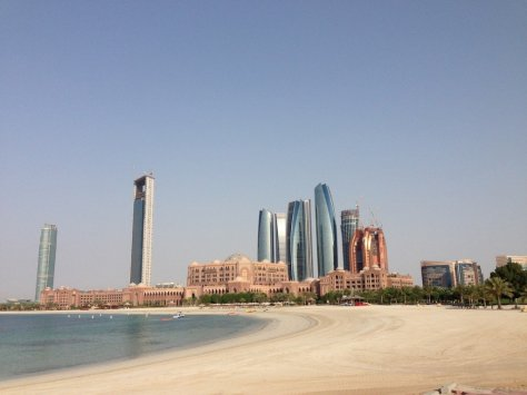 View of the Emirates Palace from the marina