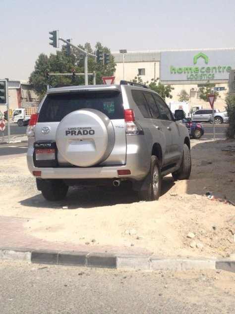 Another reason to have a four wheel drive in the UAE... off road parking!