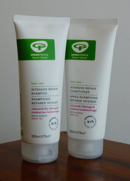 Green people shampoo and conditioner