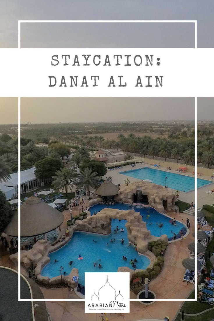 A staycation at Danat Al Ain Resort: all the luxury services and facilities you need but a great down to earth hotel - perfect for families (or anyone looking for a decent curry, pork and a pint!).