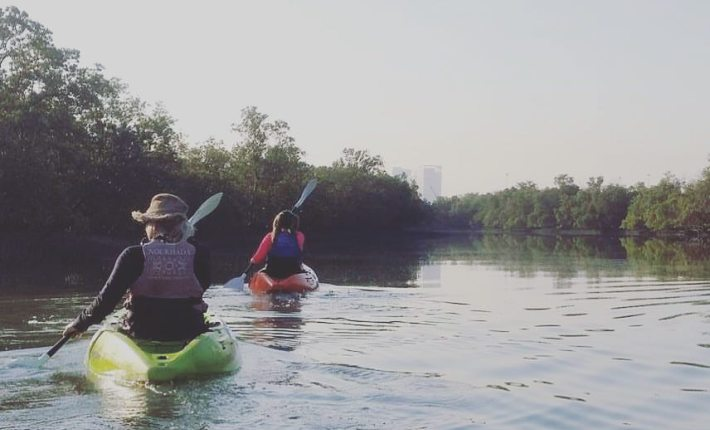Kayaking in the Eastern Mangroves. Image via CaitofAus.com