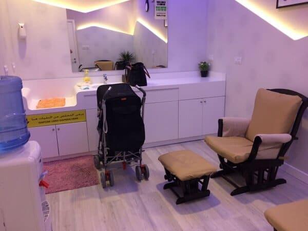 Yas Mall Babyshop nursing and changing room 3