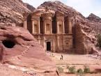 The ruins of the city of Petra, Jordan