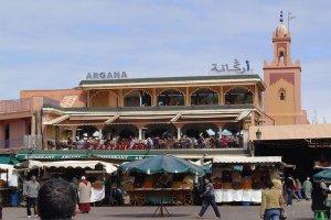 Argana cafe, Marrakech, Marruecos