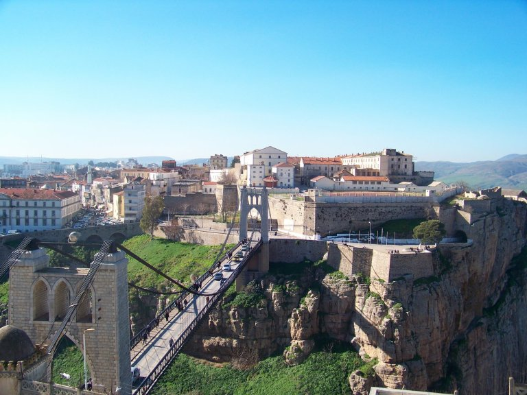 Panoramic view over the city of Constantine, Algeria