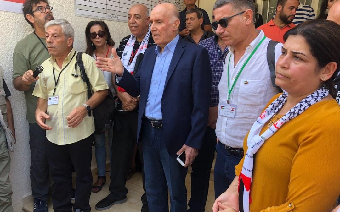 مهنا استقبل وفدا أوروبيا حضر الى لبنان لإحياء ذكرى مجزرة صبرا وشاتيلا: لا عمل إنسانيا دون الالتزام بقضايا الشعوب العادلة
