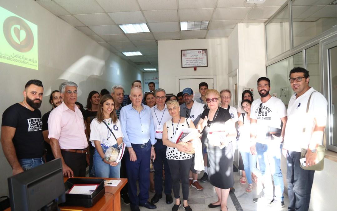 جولة ميدانية لـNAAMA على مراكز لمؤسسة عامل: مهنا: التضامن بين الشعوب قادر على تغيير مصير العالم بمواجهة الانغلاق