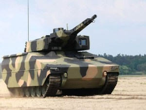 Rheinmetall took the wraps off it's new Lynx infantry fighting vehicle at the Eurosatory show in Paris on Tuesday.