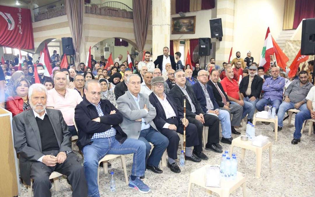وهاب خلال افتتاح مركز لحزب التوحيد العربي في مزبود – اقليم الخروب