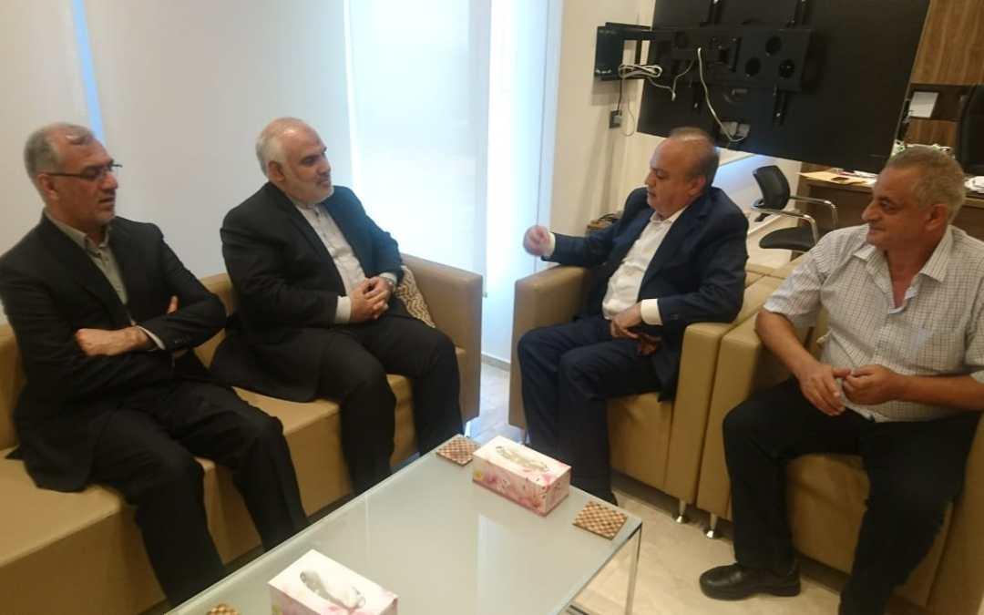 وهاب إستقبل السفير الإيراني في لبنان محمد فتحعلي في زيارة وداعية