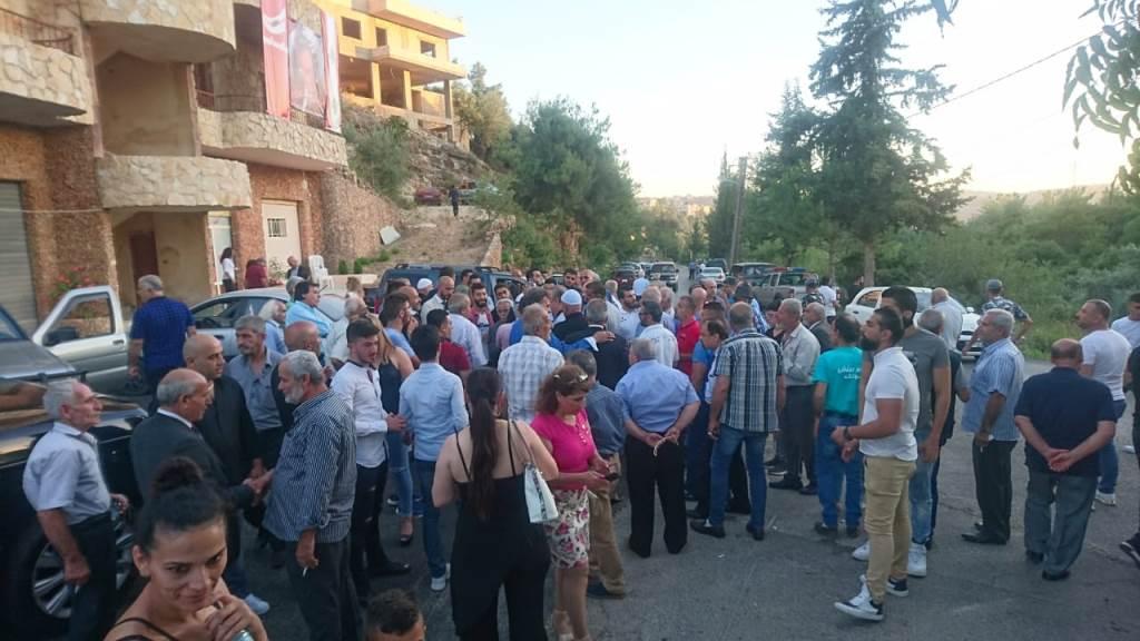 وهاب خلال إفتتاح مركز للحزب في بلدة غريفة الشوف