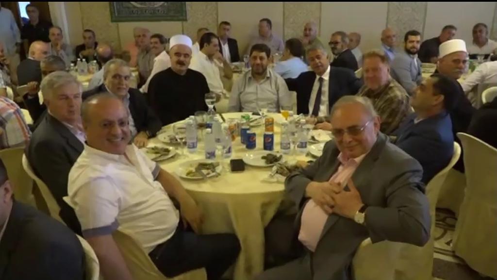 وهاب خلال تكريم عضو تكتل لبنان القوي النائب فريد البستاني في دارته في الجاهلية