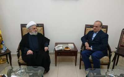 """وهاب زار نائب الأمين العام لـ """"حزب الله"""" وعرض معه التطورات المحلية والإقليمية"""