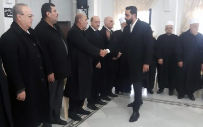 وهاب مشاركاً في تشييع والد الرفيق عماد أبوخزام في بلدة كفرحيم