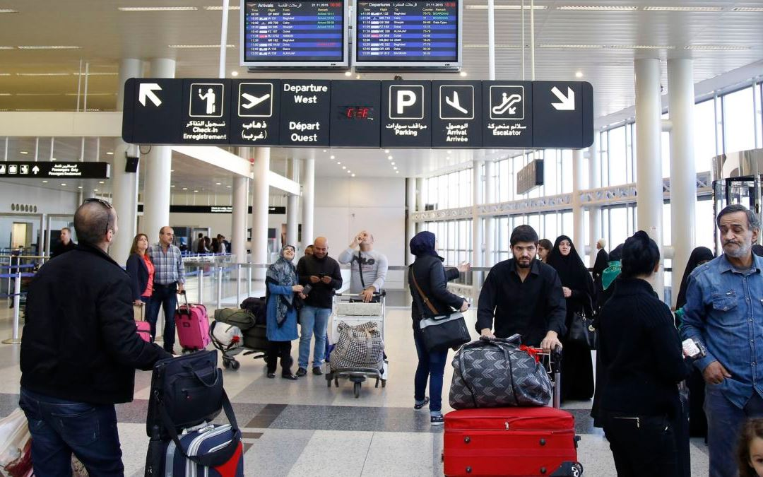 البدء بإزالة أجهزة السكانر في قاعة المغادرة في مطار بيروت