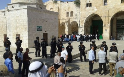 مستوطنون يضرمون النار بمسجد قرب رام الله