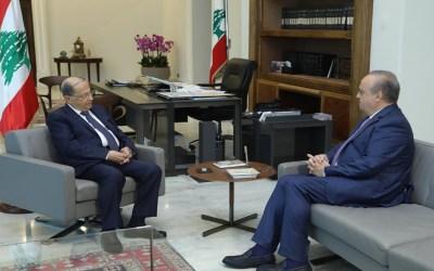 وهاب زار الرئيس عون وعرض معه التطورات في الساحة اللبنانية