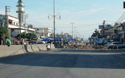 تواصل قطع الطرقات في بعض المناطق اللبنانية