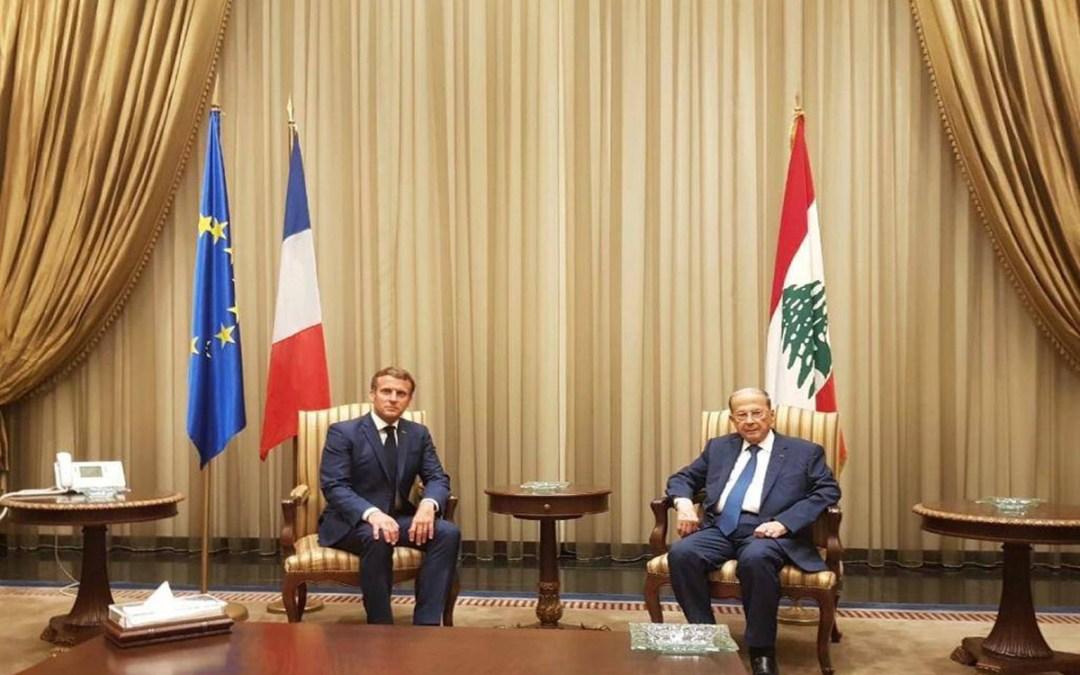 ماكرون: سنقدم الدعم الى لبنان من دون أي شروط