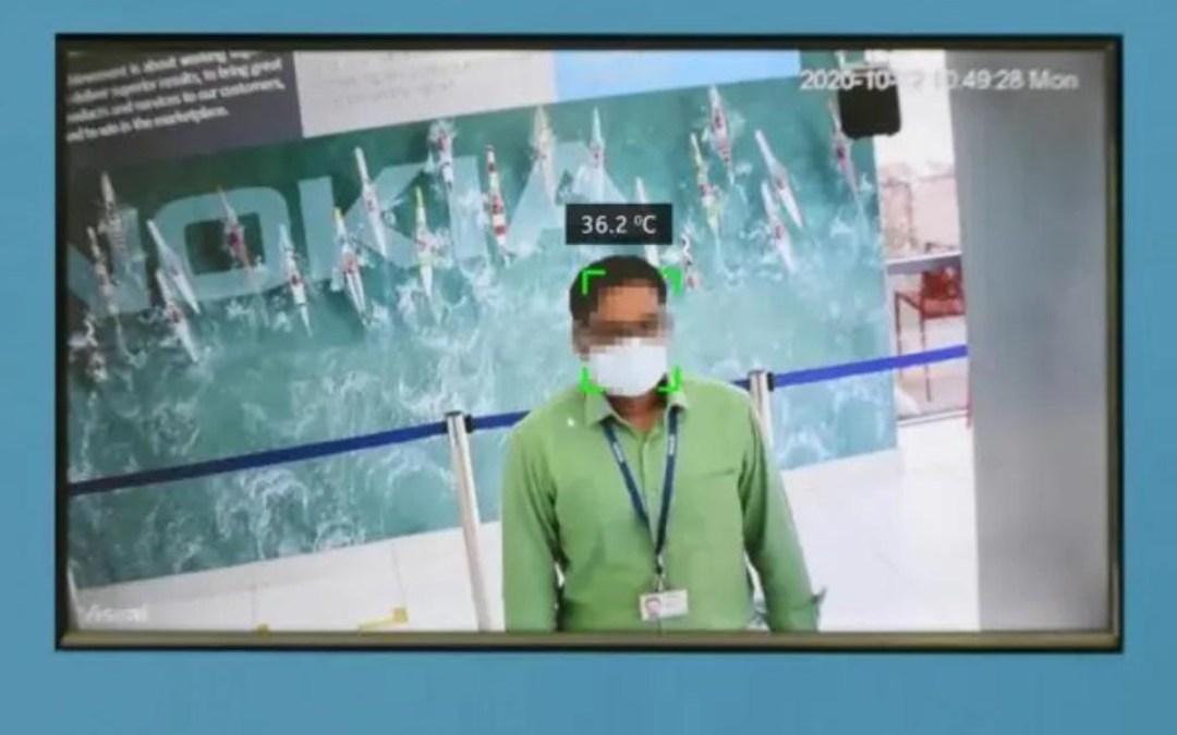 نوكيا تطور نظاما يكشف تلقائيا عن المصابين بكورونا باستخدام كاميرات حرارية