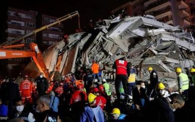 ارتفاع عدد ضحايا زلزال إزمير التركية إلى 81 قتيلا وعمليات البحث مستمرة