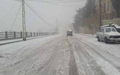طقس نهاية الاسبوع ماطر بغزارة مع عواصف رعدية وثلوج على 1200 متر