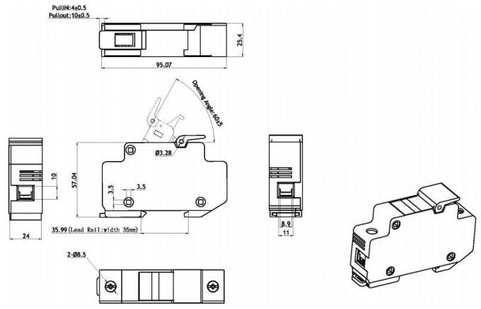 IEC60269 GB13539 10KA BH200 14x51mm AF74 Fuse Blocks