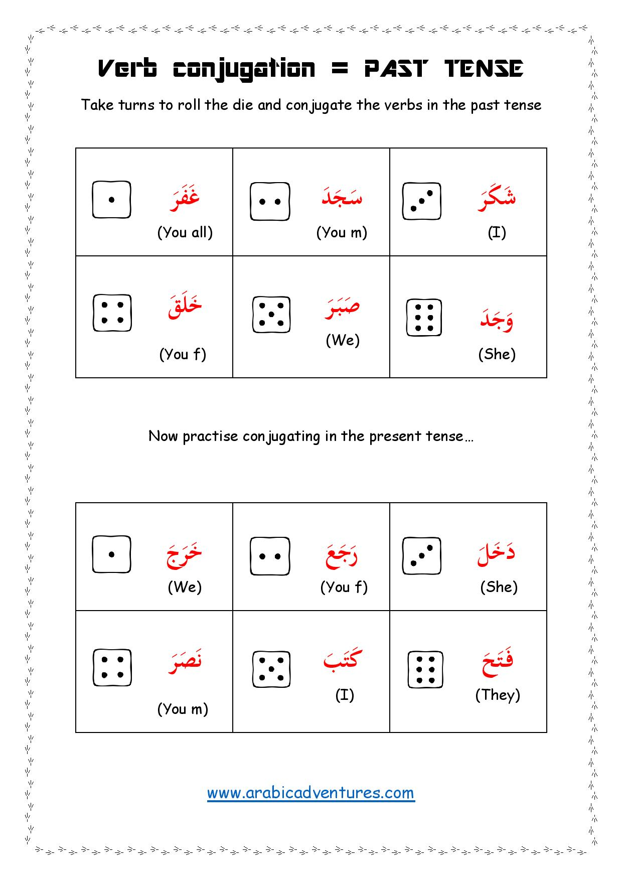 Arabic Verbs Conjugating Game