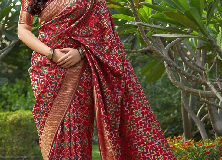 Occasion Wear Designer Banarsi Silk Latest Saree Designs 2019