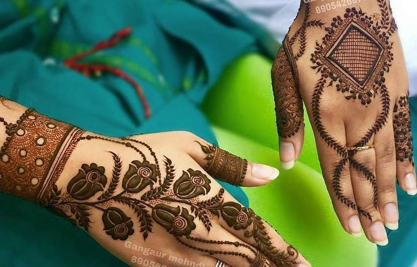 Today Designer New Mehndi Designs 2020 Images For Engagement