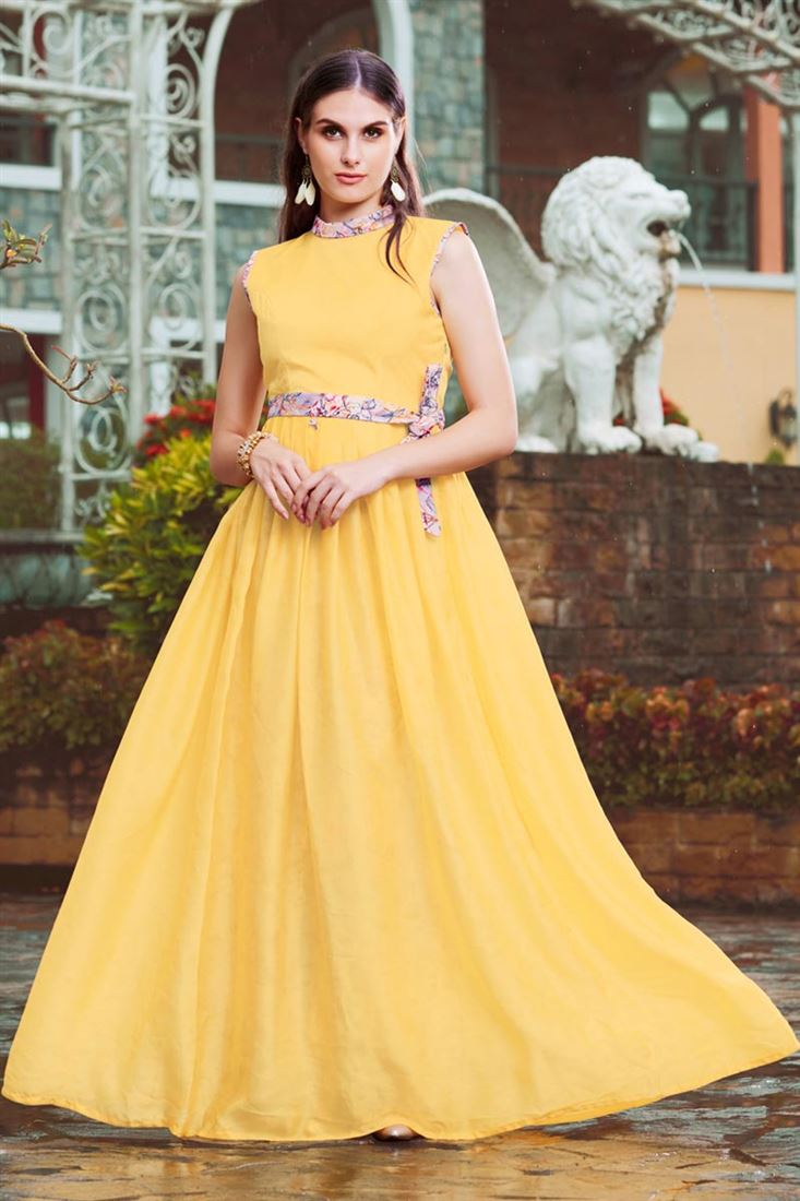 Floor Length Frock Style New Gown Designs 2019 Creative Styles For Girls