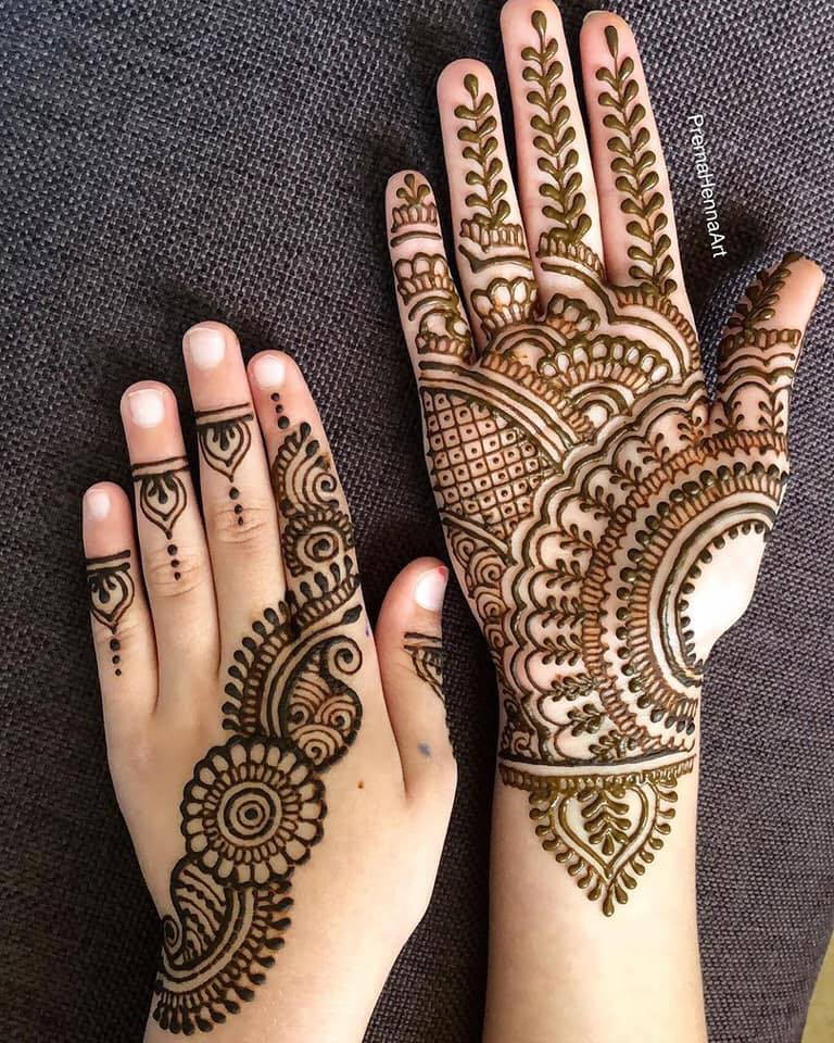 Simple Arabic Style Latest Mehndi Designs 2020 Images For Engagement