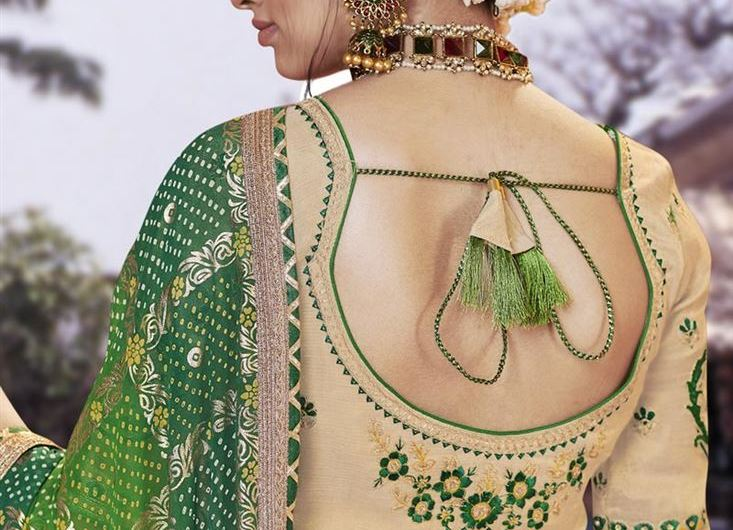 New Bridal Saree Blouse Designs 2020 With Embroidered Back Design