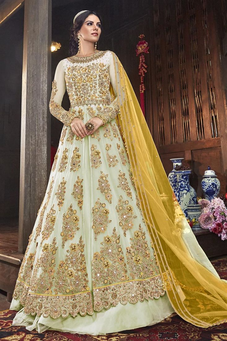 Eid Wear Simple Net Frock Designs 2020 For Pakistani Girls
