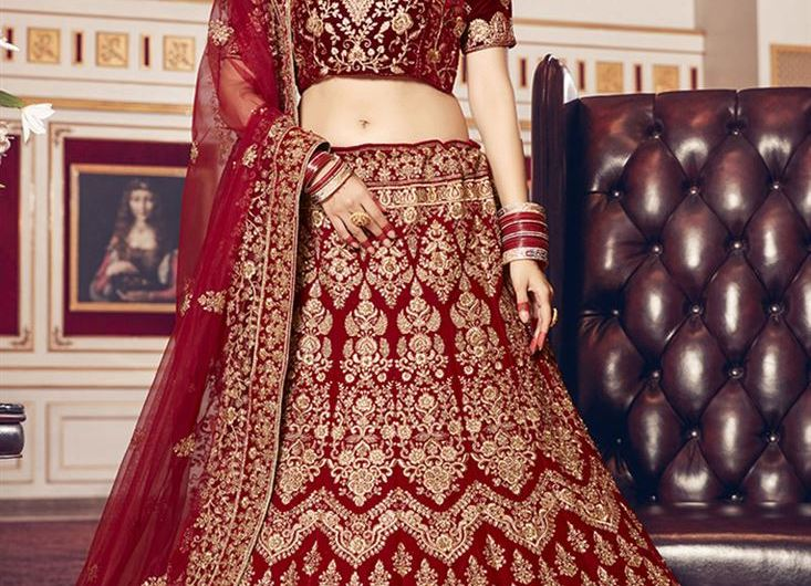 Red Velvet Bridal Lehenga Designs 2020 Images For Wedding