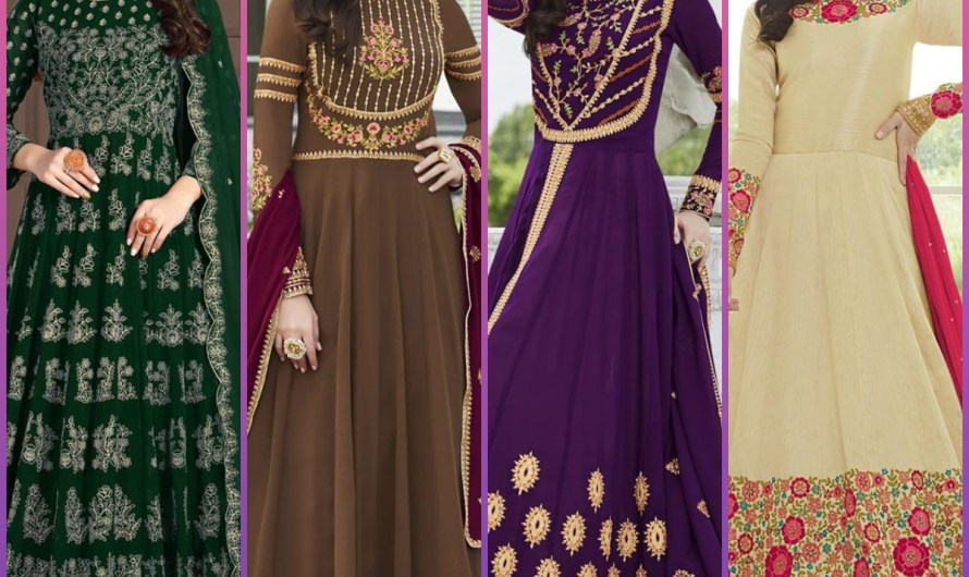 Anarkali Style Latest Bridal Mehndi Wear Designer Frock Designs 2020