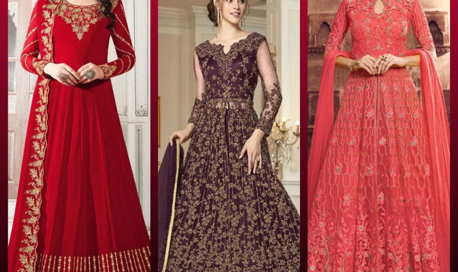 Latest Indian Net Anarkali Styles Dresses & Long Gown Suit Designs 2020