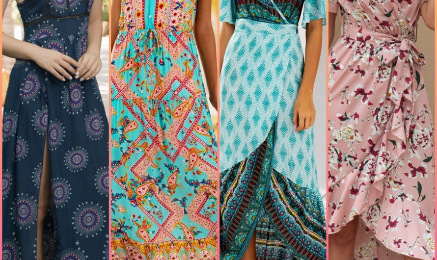 Beach Wear Cool Holiday Maxi Dresses 2020 Floral & Boho Tribal Prints