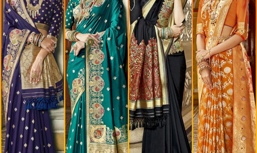 Indian Bridal Barat Wear Silk Saree Designs 2020 Designer Styles