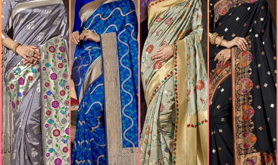 Indian Bridal Wedding Dresses Designer Silk Saree Designs 2020 Collection