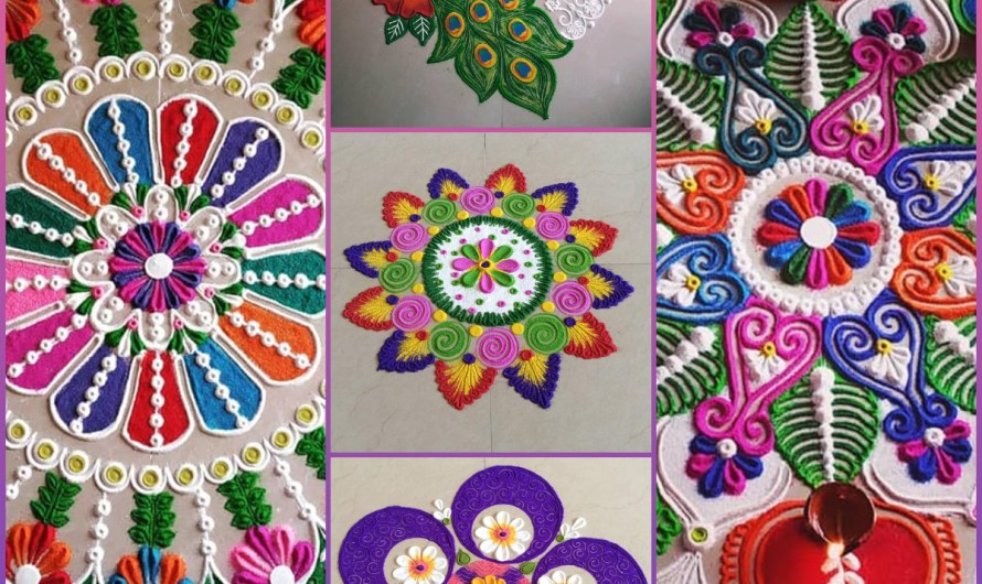 30+ Trending Modern Colorful Rangoli Designs Images 2020 For Home