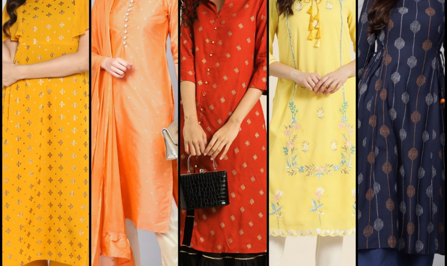 Stylish Neck & Sleeves Designer 50+ Latest Embroidered Kurti Designs 2020 For Women Images