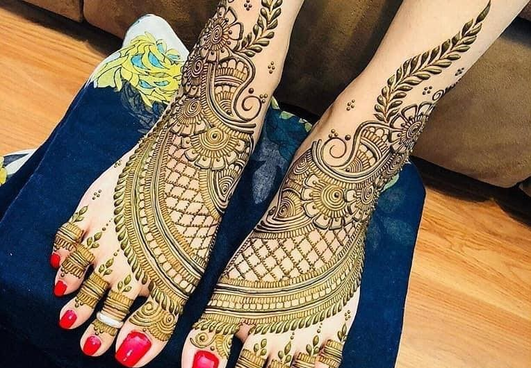 10 Most Attractive Feet Mehndi Designs For Bridals 2020-2021 New Images