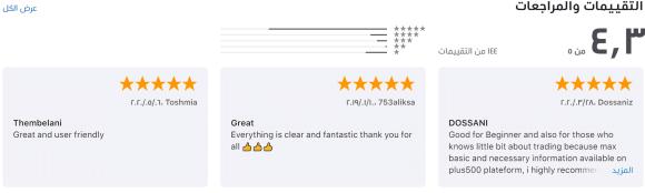 Plus500 mobile application reviews