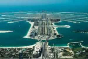 Die künstliche Palmeninsel Palm Jumeirah in Dubai, VAE